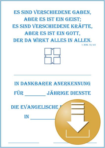 Urkunde für das Ehrenamt - Digitaler Artikel