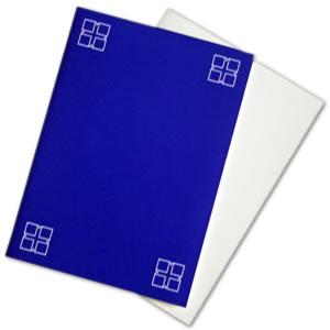 Blanko-Karte mit blauer Umschlaghülle