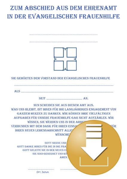 Urkunde zur Verabschiedung aus dem Ehrenamt - Digitaler Artikel