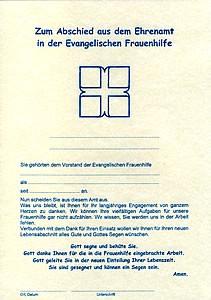 Urkunde zur Verabschiedung aus dem Ehrenamt